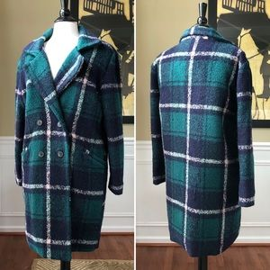 JOA Nordstrom Plaid Winter Coat